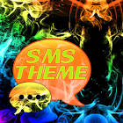 Rainbow Smoke Theme GO SMS icon