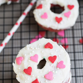 Baked Red Velvet Cake Donuts with Cream Cheese Frosting