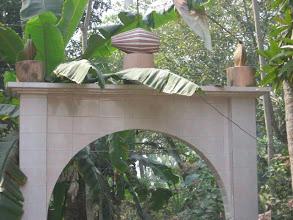 Photo: The entrance gate to Barasat SriSri Prabhu Jagadbandhu Ashram built in 2008