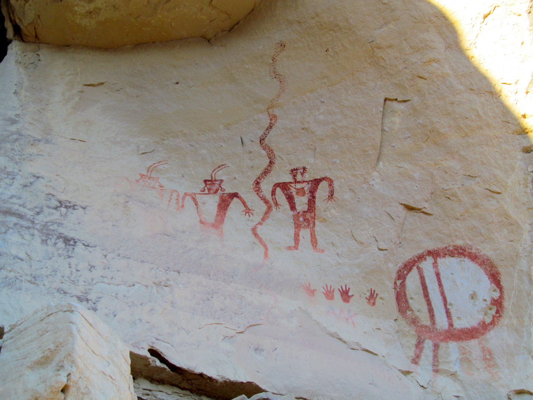 Photo: Ivie Creek pictographs