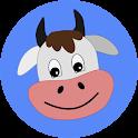 Voices of animals on a farm icon