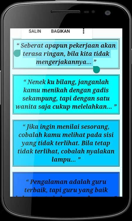 Kata Kata Bijak Lucu Android تطبيقات Appagg