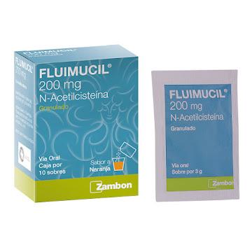 Fluimucil 200Mg Sobres   Caja x10Sob. Zambon Acetilcisteína
