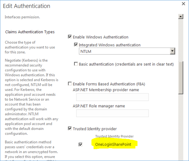 Add Trusted Identity Providers