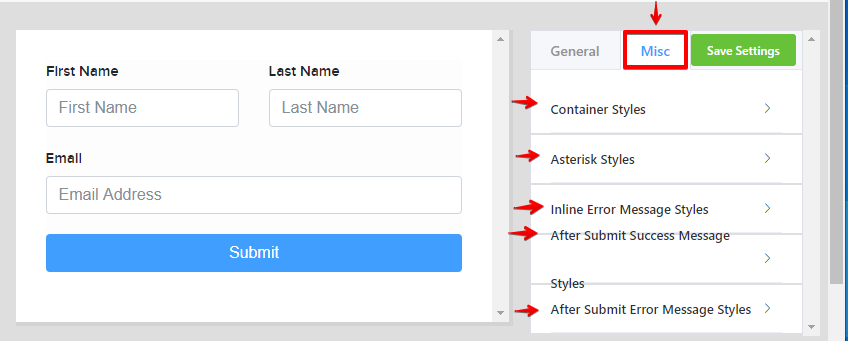 Contact form, form builder