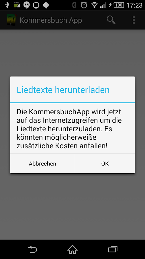 KommersbuchApp – Screenshot