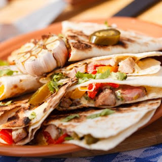 Southwestern Style Steak and Pepper Quesadillas