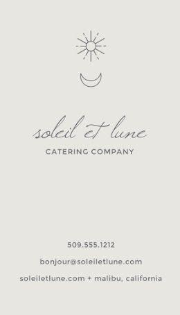 Soleil et Lune Catering Co. - Business Card item