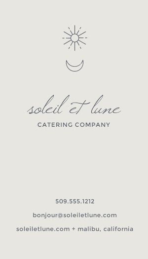 Soleil et Lune Catering Co. - Business Card Template
