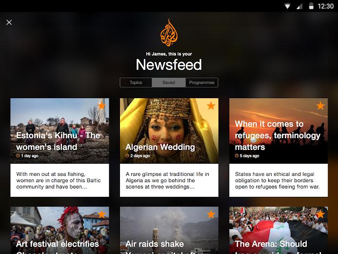 Screenshot 6 for Al Jazeera's Android app'