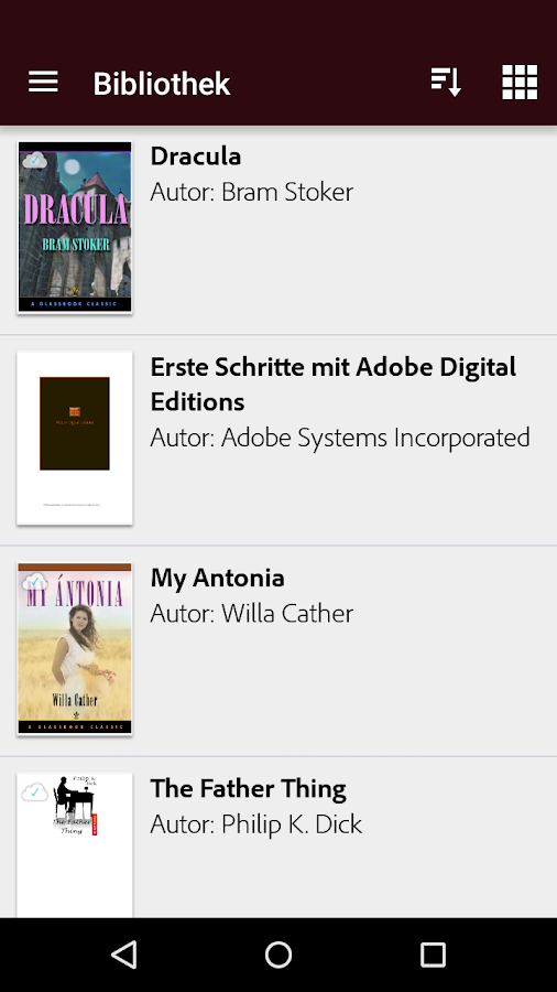 Adobe Digital Editions – Screenshot