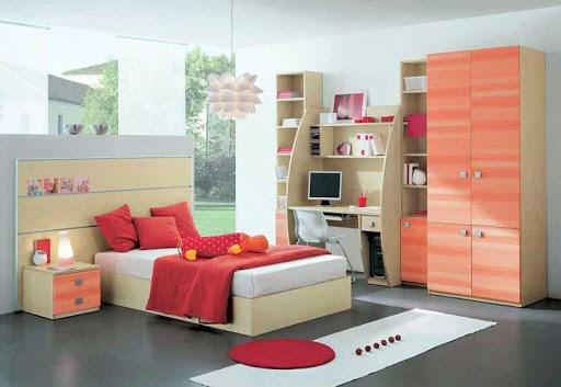 女の子のベッドルームのデザイン