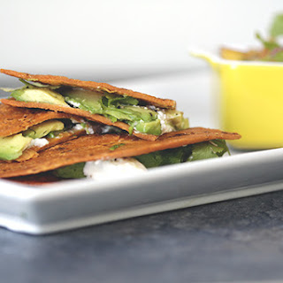 Goat Cheese and Avocado Quesadillas with Nectarine Salsa