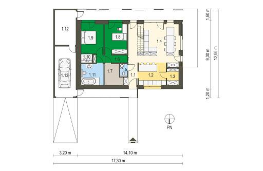 Das Haus I - Rzut parteru
