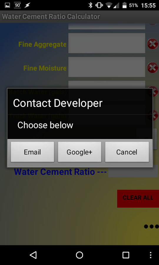 Cement Ratio Calculator : Water cement ratio calc android apps on google play