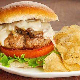 Turkey Mushroom Burgers.