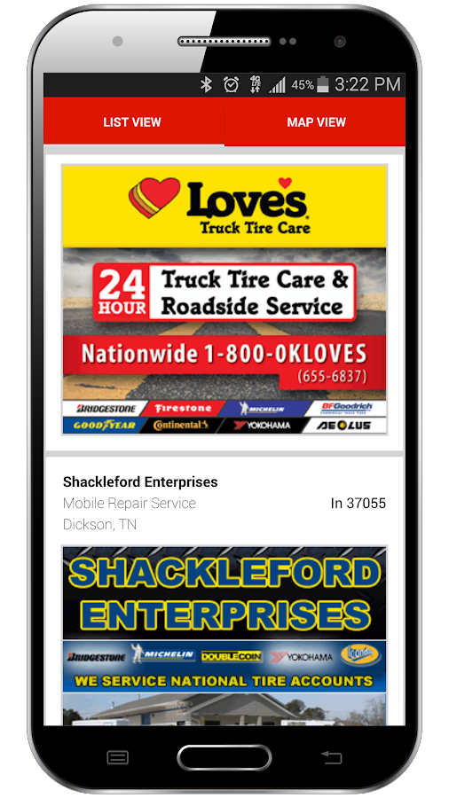 Find Truck Service & Stops - screenshot