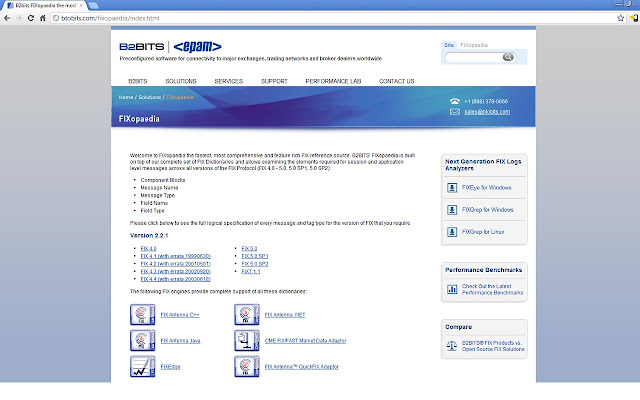 B2BITS FIX 4.4 FIXopaedia Search