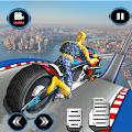 Moto Spider Vertical Ramp: Jump Bike Ramp Games