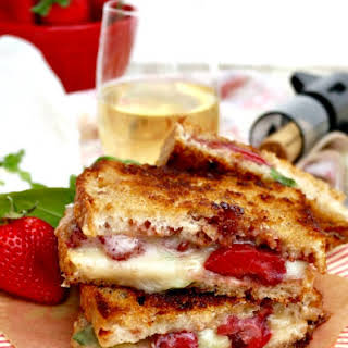 Strawberry Balsamic Brie Grilled Cheese.