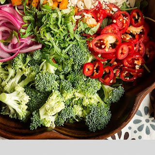 Fresh Mint & Fresno Chile Broccoli Salad Recipe