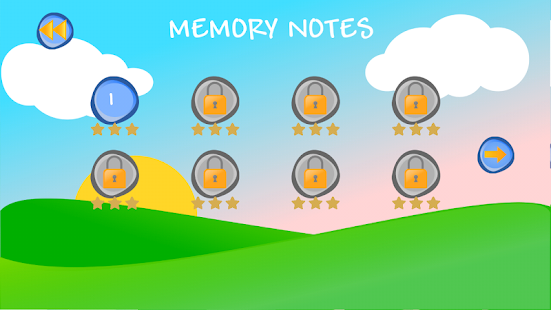 Memory Music Notes - náhled