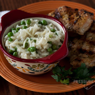 Creamy Lemon Risotto with Baby Peas in the Pressure Cooker.