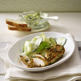 Garlic Chicken with Cucumber Salad