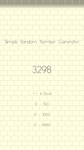 Simple Random Number Generator - náhled