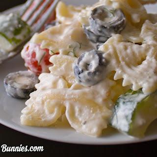 Creamy Greek Pasta Salad with Feta Recipe
