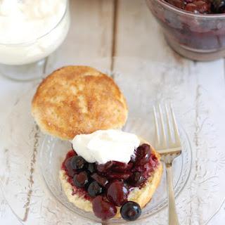 Blueberry & Cherry Shortcake.