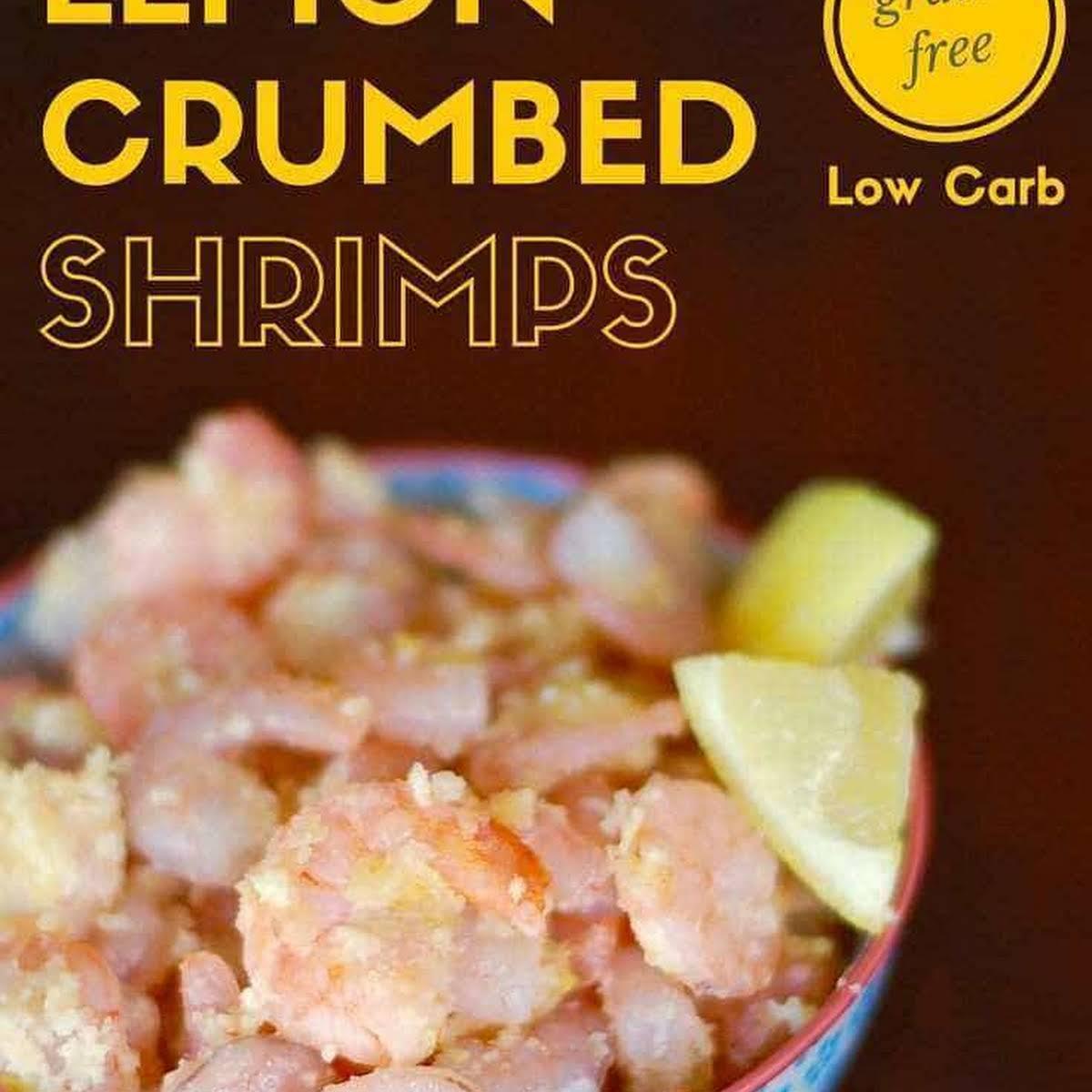 Low Carb Lemon Crumbed Shrimps