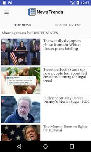 NewsTrends - náhled