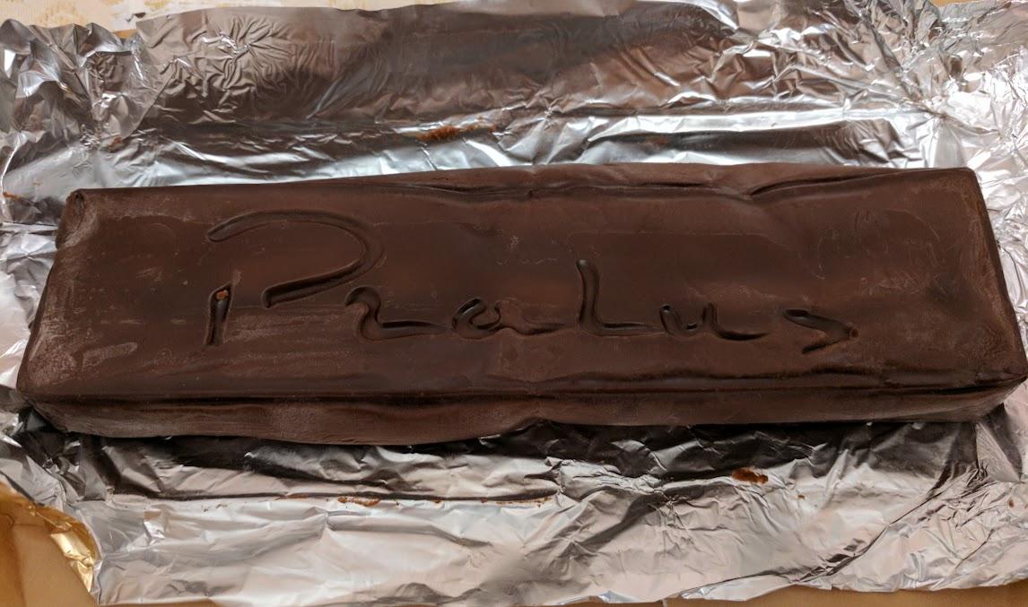 75% pralus almond praline open