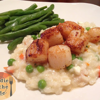 Seared Sea Scallops & Feta Risotto