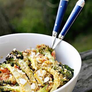 Roasted Broccoli Quinoa Salad.