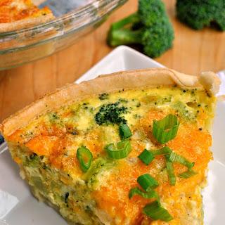 Broccoli Cheddar Quiche.