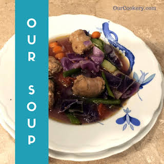 30 Minute Cabbage & Sausage Soup.