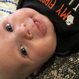 Looking Up at Grandma by Sandy Stevens Krassinger - Babies & Children Babies ( nose, tongue, baby, boy, eyes, smile )