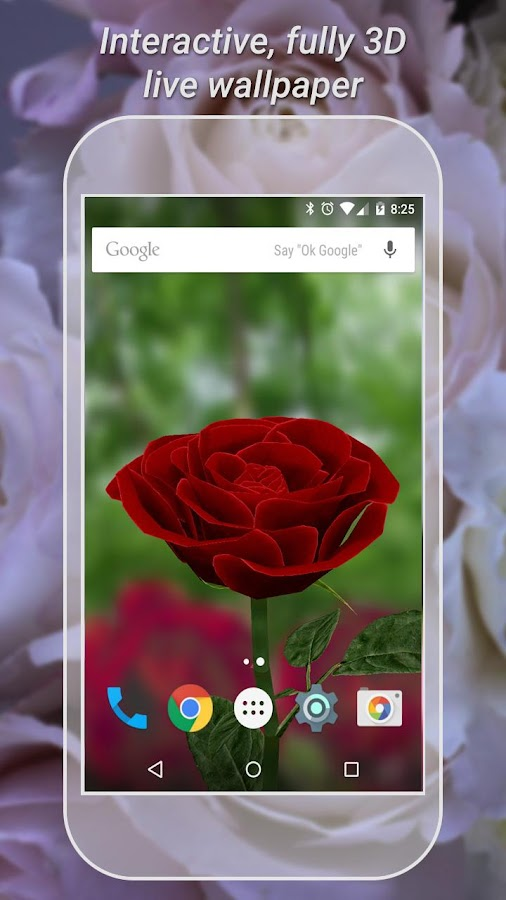 3D Rose Live Wallpaper Free- screenshot