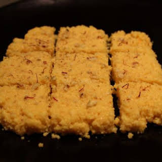 Plain barfi (Indian milk sweet).