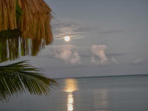 Photo: Moon comes up- Andros Island Bonefish Club