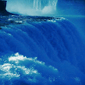 Nature Blue Falls LWP icon