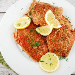 Lemon Butter Seared Salmon.