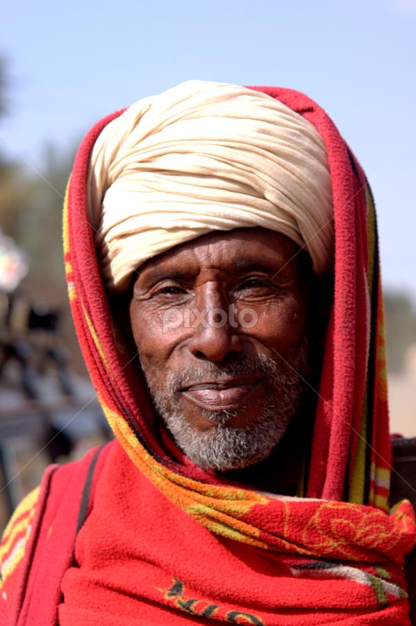 proud man by Nico Kranenburg - People Portraits of Men ( cold, bluesky, men, ethiopia,  )