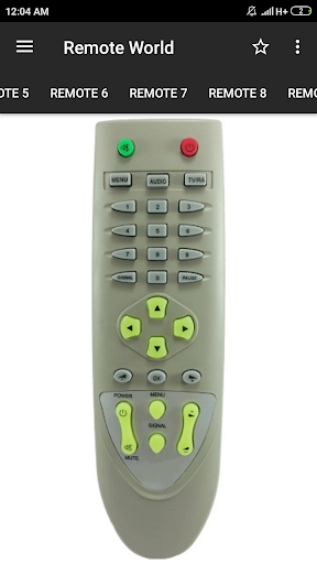 dd free dish remote control (36 in 1) screenshot 2