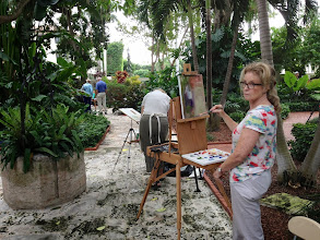 Photo: Frances Lynn / Painting plein air at the Society of the Four Arts 12-12-13