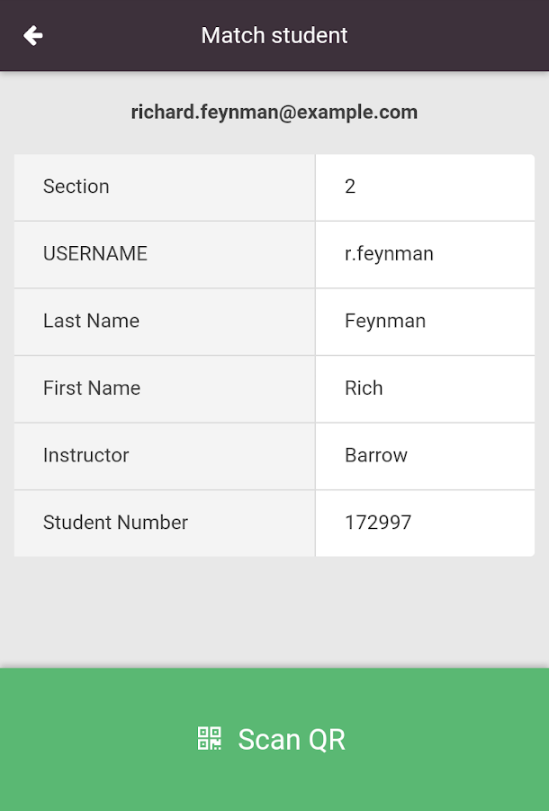 Exam Matcher- screenshot