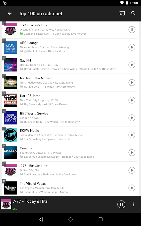 radio.net - Tune in to more than 30,000 stations- screenshot