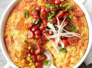 Corn & Zucchini Pan Souffle